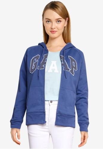 Gap blue Classic Full Zip Hoodie 63AF2AA7BEAC84GS_1