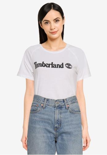 Timberland white Est. 1973 Linear Logo Tee (Regular) 17F04AA15C13E0GS_1
