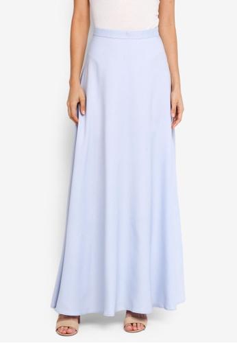 Soonaru blue Flare Skirt F64E2AA9563660GS_1