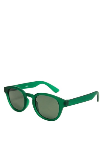 MANGO KIDS green Acetate Frame Sunglasses 72591KC6375951GS_1