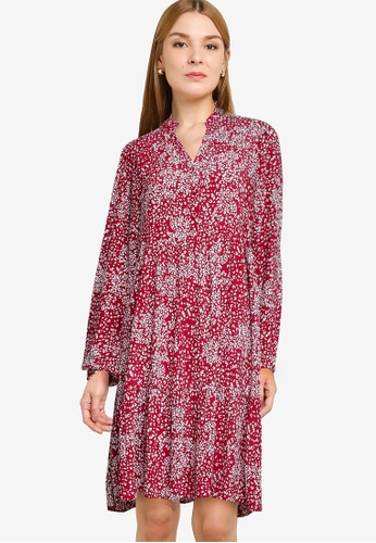 Vero Moda red Caitlynn Printed Shirt Mini Dress 284B9AA6862C3AGS_1