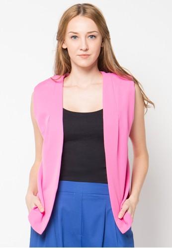 Raspberry pink Viola Slleeveless Vest RA572AA47PTWID_1