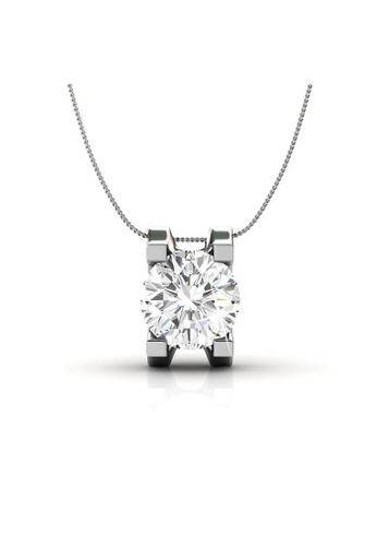 Her Jewellery silver Swarovski® Crystals - Caring Pendant  (18K White Gold Plated) Her Jewellery HE581AC0RCB8MY_1