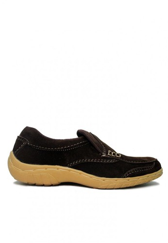 D-Island brown D-Island Shoes Slip On Driving Comfort Suede Dark Brown DI594SH57WSGID_1