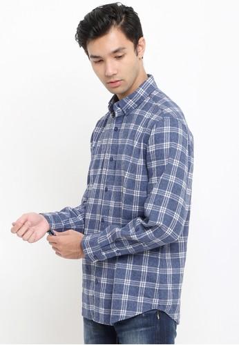 Tripl3 Jeans navy Kemeja Lengan Panjang Slim Fit 817D9AA13DF87CGS_1