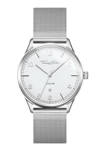 "THOMAS SABO silver Watch unisex ""CODE TS silver white"" FF164AC0E0BD9FGS_1"