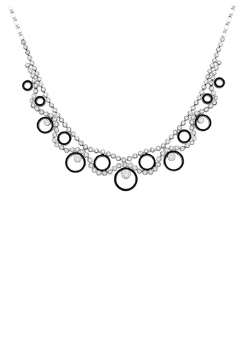 Glamorousky silver Dazzling Round Necklace with Silver Austrian Element Crystals 8DFF0ACA13CF9FGS_1