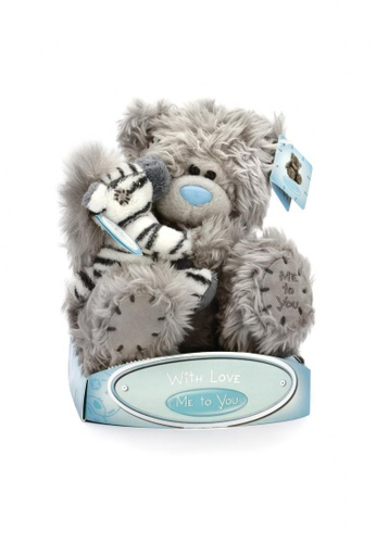 Her Jewellery Me to You Plush Toys - 6″ Tatty Teddy Holding Chip the Zebra A76C4TH384A460GS_1