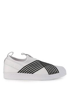 detailed look 669a0 9a472 adidas white adidas originals superstar slip on w 49198SH1790964GS 1