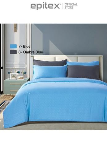 Epitex blue Epitex Silkysoft 900TC SS8030-06 Ombre Blue Bedsheet - Fitted Sheet Set (w/o quilt cover) DD833HLB73569DGS_1