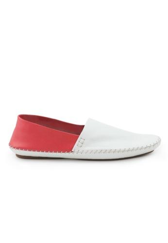 Shu Talk 紅色 型格雙色簡約悠閒爛佬鞋 SH544SH09RJMTW_1