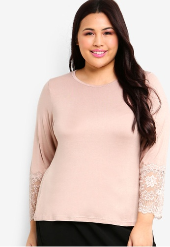 Lubna beige Lace Sleeve Inner A2678AAE857E8AGS_1