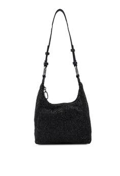 50dda2a7dc3c0 TOPSHOP black Diana Double Ring Shoulder Bag 07362AC097A4B9GS 1