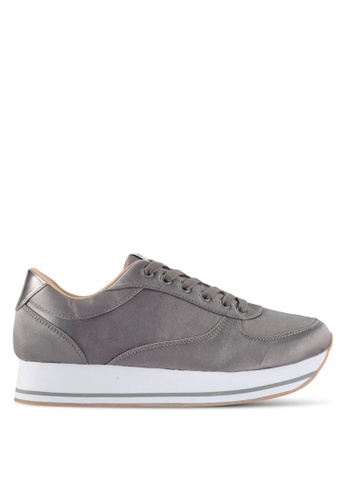 ONLY grey Smilla Satin Sneakers 37F16SH69AD057GS_1