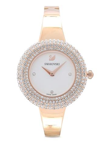 SWAROVSKI gold Crystal Rose Metal Bracelet Watch 9D44AACE6857CDGS_1