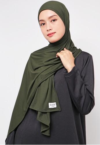 DAW Project Daw Project DH037 Milan Hijab Pashmina Spandex Hijau Army 7FEEFAA2471D4EGS_1