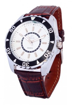 Valia Theo Leather Strap Watch 8168