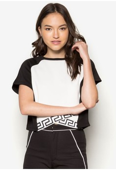Printed Wrap Cropped Top
