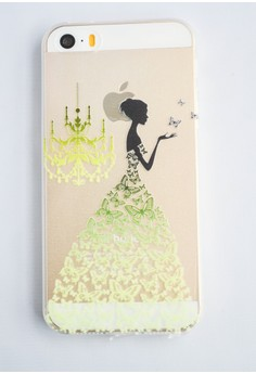 Woman and a Chandelier Soft Transparent Case for iPhone 5/5s