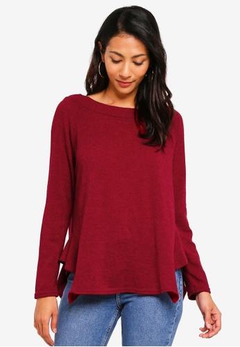 OVS red Long Sleeve Sweater 3F2DCAA71B0526GS_1