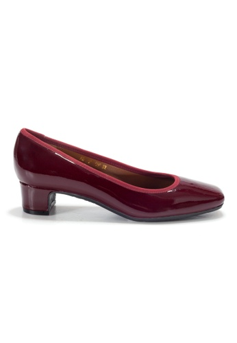 Shu Talk red LeccaLecca Patent Leather Blocked Heels 47D90SHFBCE633GS_1