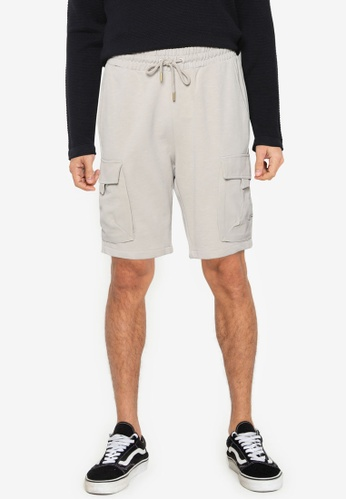Only & Sons grey ONSNICKY LIFE SWEAT SHORTS  NF 9126 96D9DAABEC1D7EGS_1