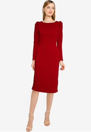 Dorothy Perkins pink Raspberry Ruched Bodycon Dress F95D8AA1C8FABCGS_1