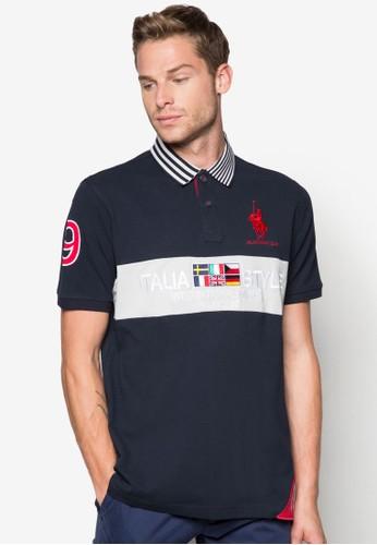 拼接設計POLO衫, 服飾,esprit台北門市 Polo衫