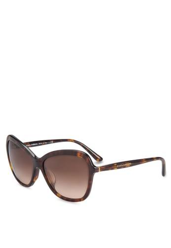 Dolce & Gabbana 方貓眼太陽眼鏡, 飾品配件zalora 泳衣, 飾品配件