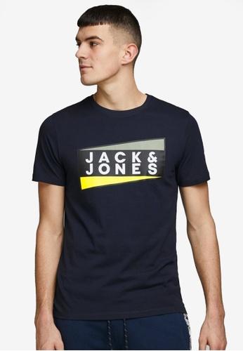 Jack & Jones navy Shaun Short Sleeves Crew Neck Tee 12747AA0FB4740GS_1
