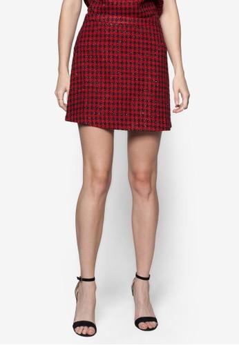 Festive Luxe Mini Skirt, 服飾, zalora是哪裡的牌子迷你裙