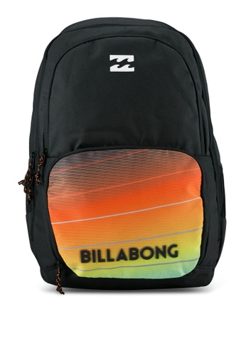 Billabong black and red Strike Thru Backpack BI783AC0RYZDMY_1