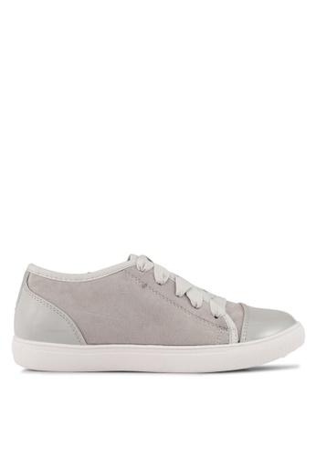 Velvet grey Satin Laced Sneakers 69C09SH2D08D99GS_1