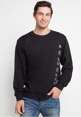 Wakai black Vertical Sweatshirt 00657AA70DAF8FGS_1
