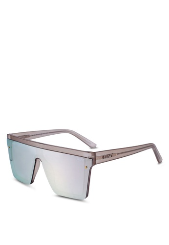 Quay Australia gold Hindsight Sunglasses 97995GL6848833GS_1