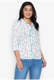 4cbe4205afa4f Ladies Polo Woven Blouse 2A0F2AAD8974B6GS 1