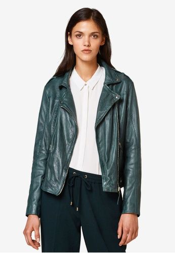 ESPRIT green Outdoor Leather Regular Jacket 5910CAA26FCB79GS_1