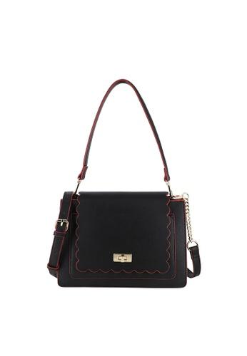 SEMBONIA black Turnlock Shoulder Bag 0B341ACE687548GS_1