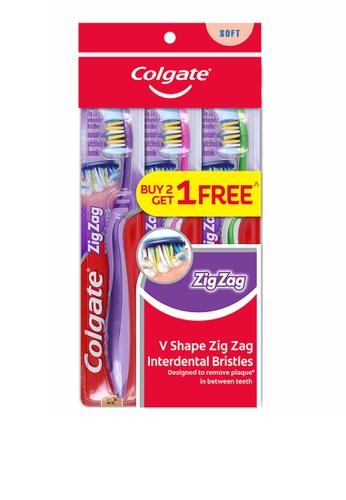 COLGATE Colgate ZigZag Toothbrush Valuepack 3s (Soft) 02ED0ES79CBFB4GS_1
