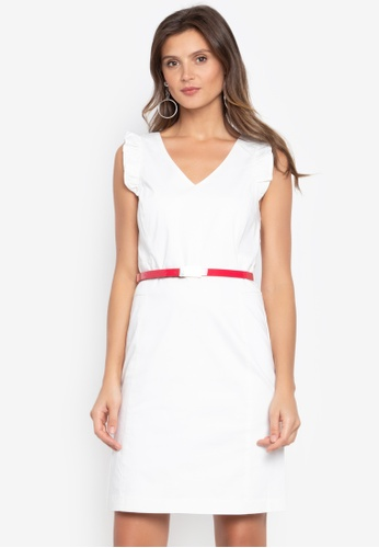 12ce50a4eae9a1 Shop Cortefiel White Dress Online on ZALORA Philippines