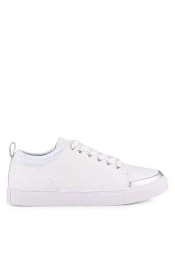 ZALORA white Mix Patent Lace Up Sneakers DA175SH8A08140GS_1