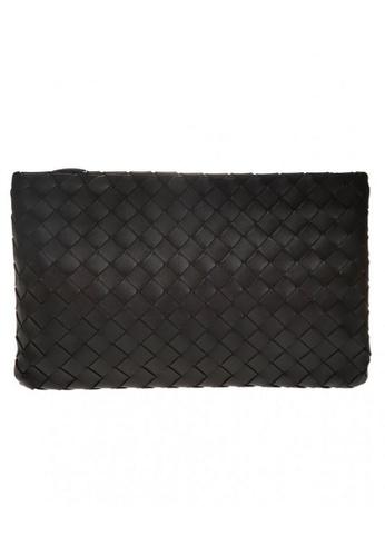 BOTTEGA VENETA black Bottega Veneta Large Zipped Clutch Bag in Black 77CA1AC61D1016GS_1