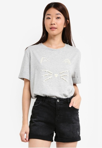 ESPRIT grey Short Sleeve T-Shirt 8307BAAEF70FC6GS_1