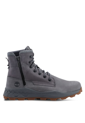 Timberland grey Brooklyn Side Zip Boots 391EASH55A32D2GS_1
