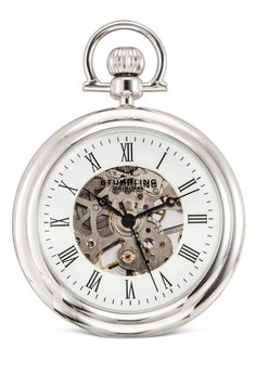harga Stainless Steel Silver Tone Chain Pocket Watch Zalora.co.id