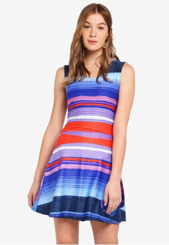 Desigual blue and multi Violeta Dress 9296BAAE578016GS_1
