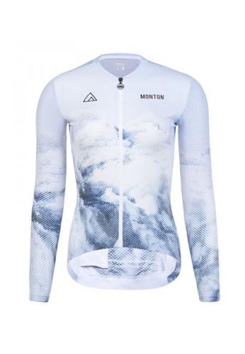 MONTON white Monton jersey women long sleeve iceberg D05E8AA4F0EE88GS_1