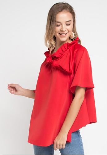 ELLE red Blouse 12B05AAEDE1A31GS_1