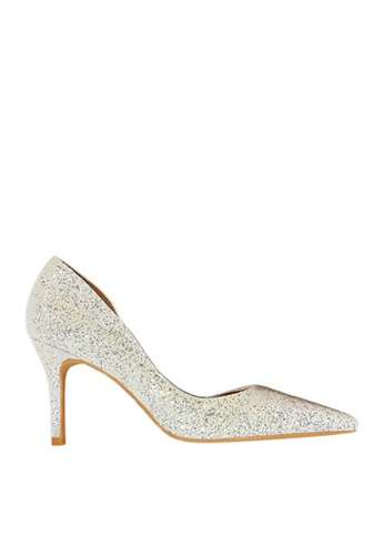 Twenty Eight Shoes white Unilateral Open Sequins Evening and Bridal Shoes VP88621 BF55ESHABC2EAEGS_1