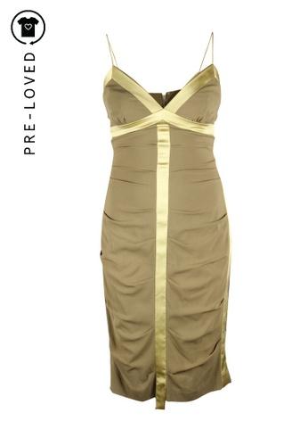 Nicole Miller green Pre-Loved nicole miller Green Silk Dress 92AC6AA145A05EGS_1